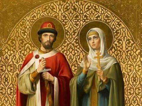 День Петра и Февронии 8 июля. Молитвы, приметы, ритуалы, заговоры - Икона святых Петра и Февронии.jpg