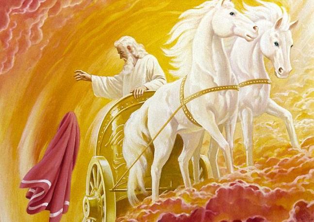 Ильин день, Илья-пророк 2 августа . Приметы, обычаи, заговоры - Пророк Илья на колеснице.jpg