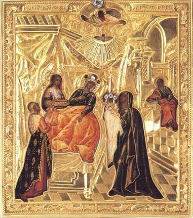 Рождество Пресвятой Богородицы 21 сентября. Приметы, обряды, молитвы и заговоры - Икона Рождества Богородицы.jpg
