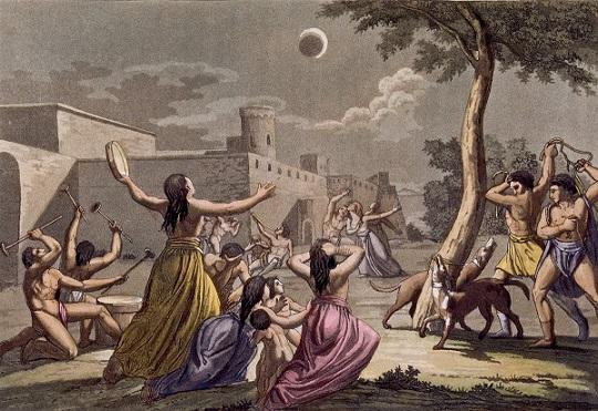 Солнечное затмение. Обряды, ритуалы, медитации - Солнечное затмение в древности.jpg
