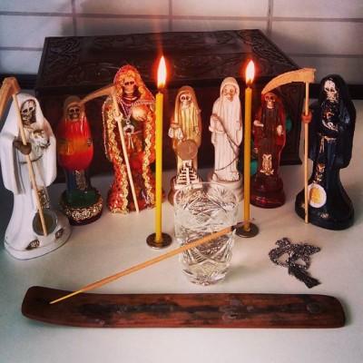 Santa Muerte - призыв и прощание перед ритуалом: - Santa Muerte.jpg